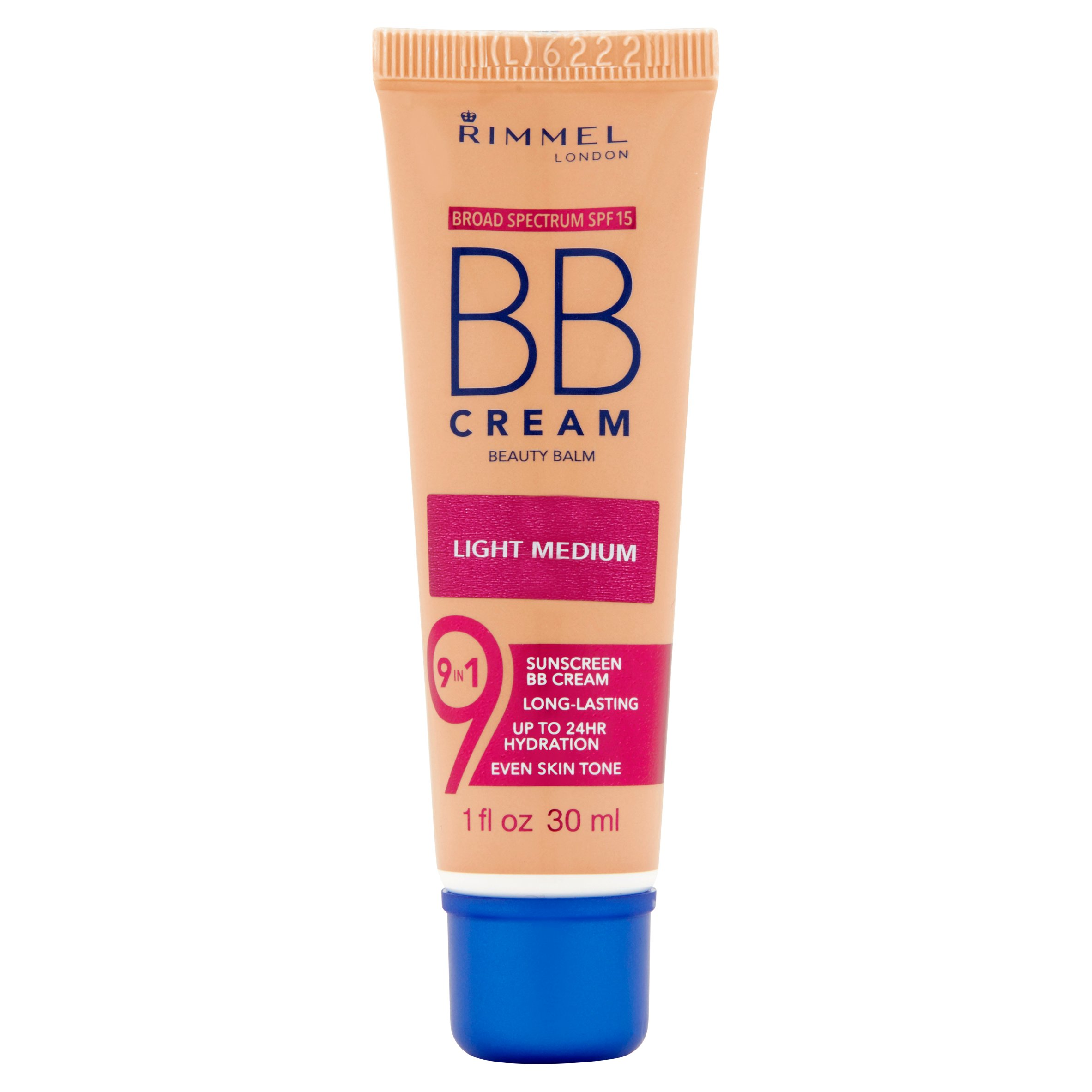 Rimmel 9-in-1 Beauty Balm BB Cream with SPF 15, Light Medium