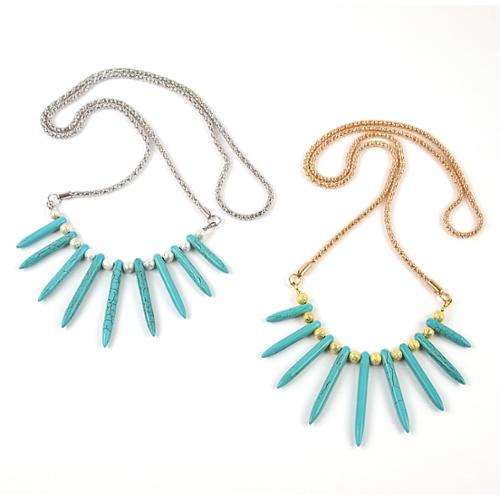 Pretty Little Style  Turquoise Rope Necklace