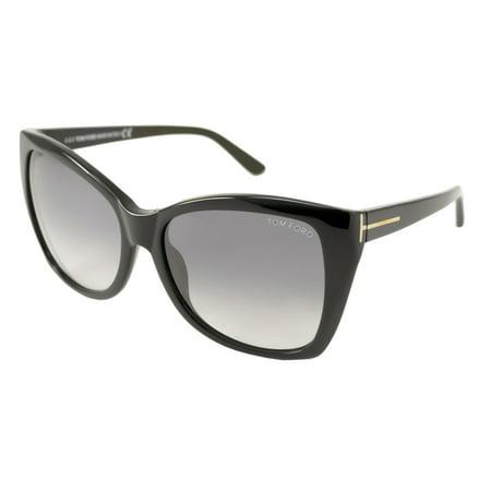 e6b7a943d79f9 Tom Ford - Sunglasses Tom Ford TF 295 FT 01B shiny black   gradient smoke -  Walmart.com