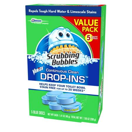 Scrubbing Bubbles Toilet Cleaner Drop Ins 5pk Best Bathroom Cleaners