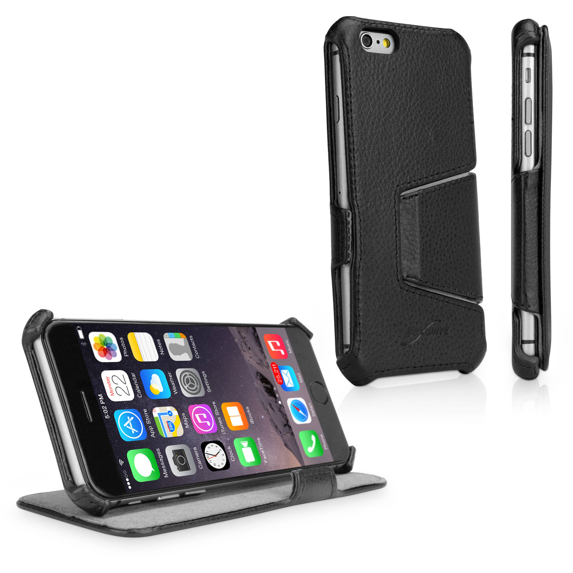 BoxWave Leather Book Jacket Folding Folio Cover for Apple iPhone 6/6s