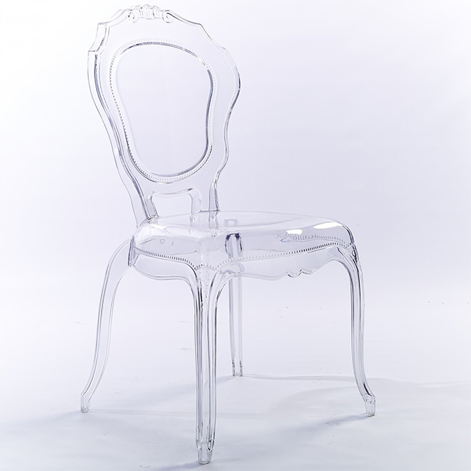 2xhome   Modern Plastic Chairs Ghost Side Chair Transparent Crystal Clear