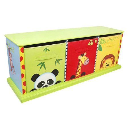 Jungle Basket - Fantasy Fields - Sunny Safari 3 Drawer Cubby
