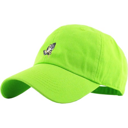 c147415342a75 Praying Hands Rosary Lime Dad Hat Baseball Cap Polo Style Adjustable -  Walmart.com