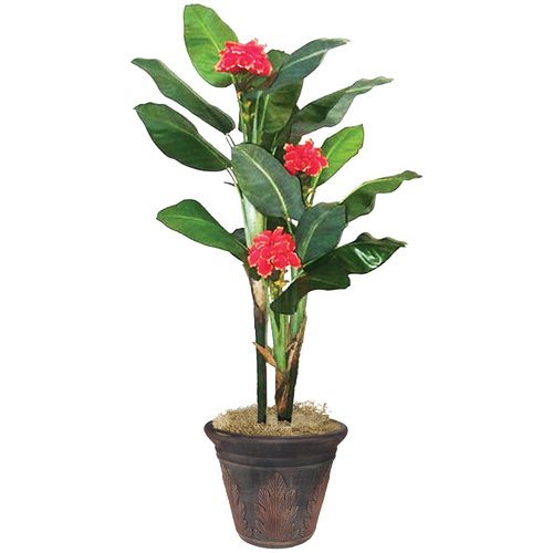 Artistic Products NuDell Artificial Flowering Banana Tree