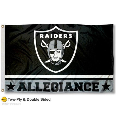 Oakland Raiders Allegiance Two Sided Flag