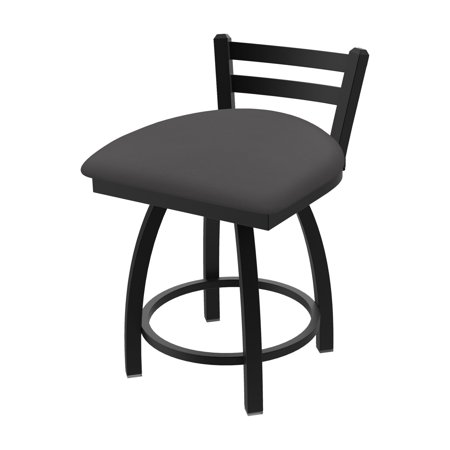 Holland Bar Stool Co 411 Jackie Faux Leather Low Back Swivel Dining Chair Iron Leather Saddle