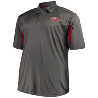 product image mens majestic charcoal san francisco 49ers big tall pieced polo