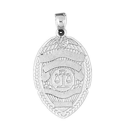 18k white gold police badge pendant 34 mm walmart 18k white gold police badge pendant 34 mm mozeypictures Choice Image