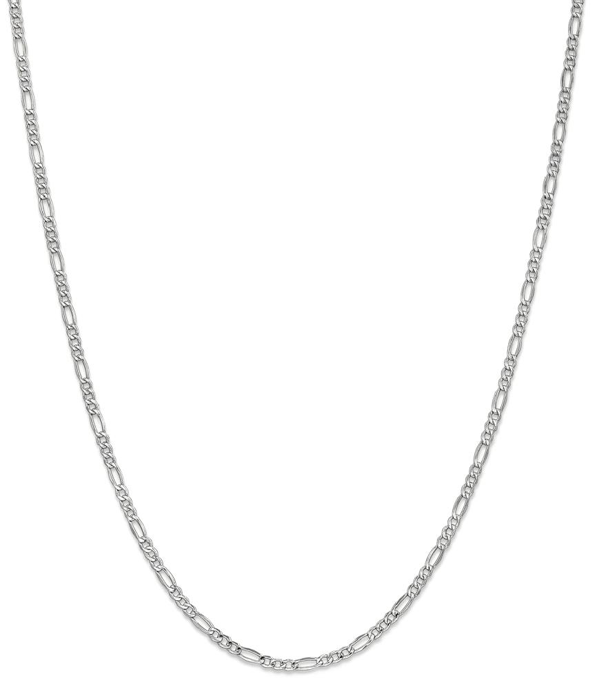 ICE CARATS ICE CARATS 14kt 2.5mm White Gold Link Figaro Chain Necklace 20 Inch Pendant Charm Fine Jewelry Ideal Gifts... by IceCarats Designer Jewelry Gift USA