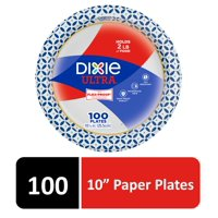 "Dixie Ultra Paper Dinner Plates, 10 1/16"", 100 Count"