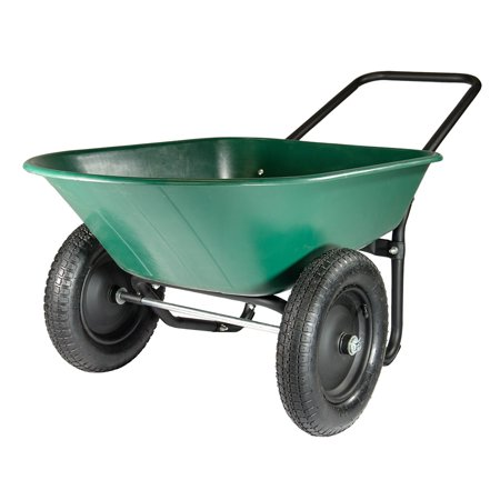 Yard Care - Garden Star Dual Wheel, Poly Tray Yard Rover Wheelbarrow