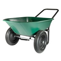 Garden Star Dual Wheel, Poly Tray Yard Rover Wheelbarrow Deals