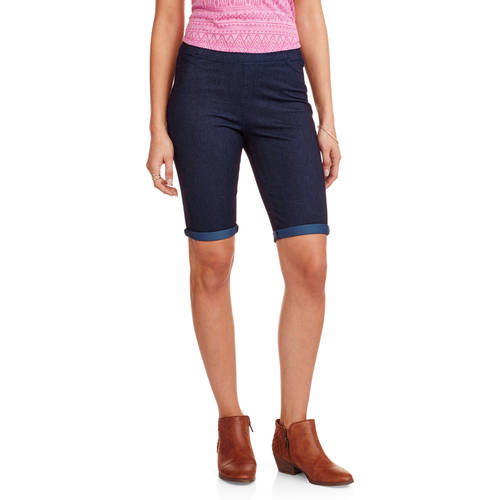 Faded Glory Women's Bermuda Knit Color Jegging-Your Favorite Jegging Now in Shorts Length by
