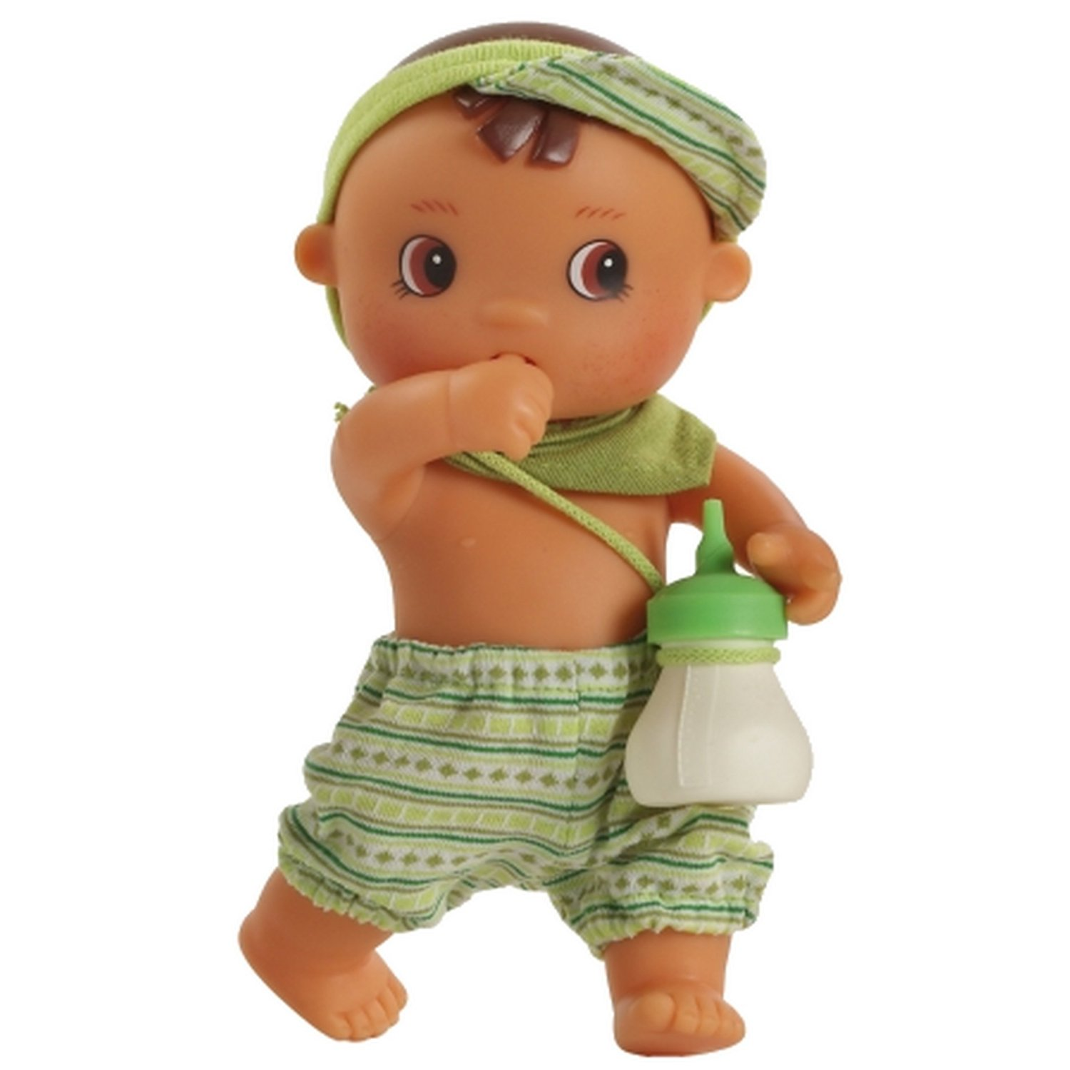 "Paola Reina Los Bebes Go Potty Enzo 8.6"" Drink & Wet Boy Doll (Made in Spain)"