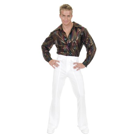 Mens Sequin Disco Shirt Halloween Costume - Disco Men