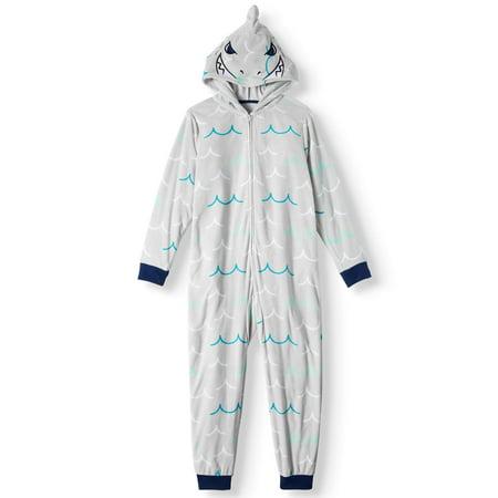 963fd4559980 Komar Kids - Komar Kids Boys  Shark Hooded Pajama Sleeper (Little Boys    Big Boys) - Walmart.com