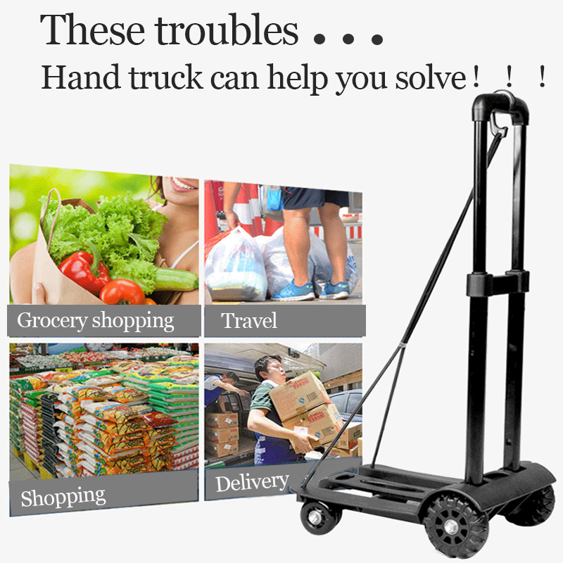 Household trolleys and Pull-Type trolleys can Carry 200 kg and are Suitable for Home and Garden Transport Trucks. BACS Dolly/'s Foldable Platform trolleys