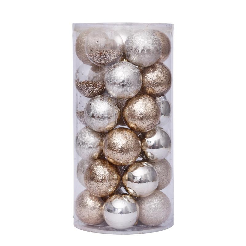 Details about  /30pcs Painted Christmas Tree Hanging Balls Baubles Xmas Party Decor Ornaments US