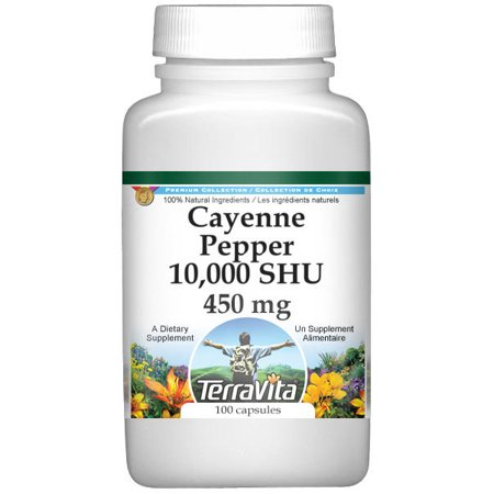 Cayenne Pepper 10,000 SHU - 450 mg (100 capsules, ZIN: 521120) Cayenne Pepper 100 Capsules