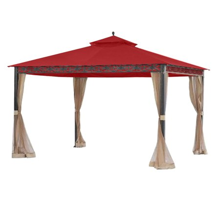 Garden Winds Replacement Canopy Top Cover for the Smith and Hawken Allogio Gazebo - Cinnabar ()