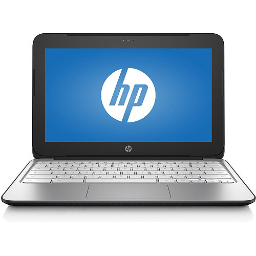 "Refurbished HP J2L80UA#ABA Silver/Black 11.6"" Chromebook 1.70GHz 2GB RAM 16GB HDD"