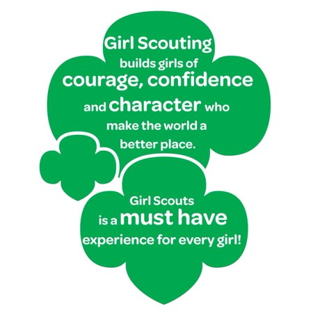 Girl Scouting Builds Girls Of Courage Confidence & Character Who Make The World Better Quote Custom Wall Decal Vinyl Sticker 12 Inches X 12 Inches](Minion Character Quotes)