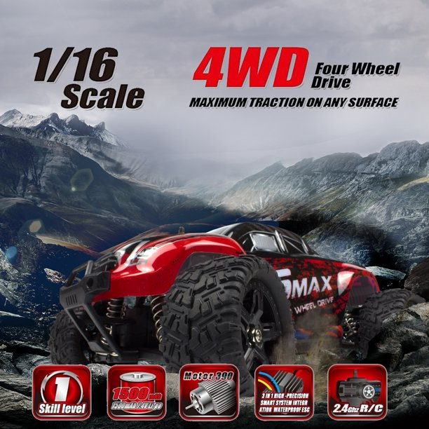 High Speed 4WD RC Brushed Car 1631 1/16 Scale Off-road Short-haul Monster Truck