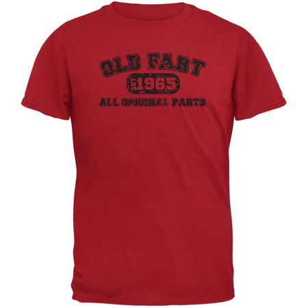 Old Fart Original Parts 1965 Funny Red Adult T-Shirt