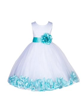 70712f4dfd Product Image Ekidsbridal White Lace Top Tulle Bodice Floral Petals Flower  Girl Dresses Formal Special Occasions Dresses Wedding
