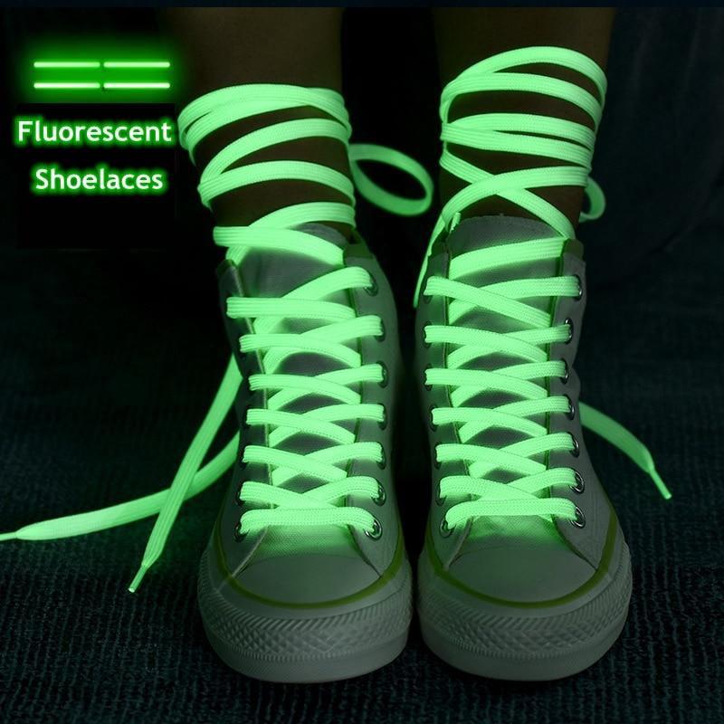 Reflective Shoe Laces Luminous Glowing Unisex For Sport Canvas Shoes B1X6