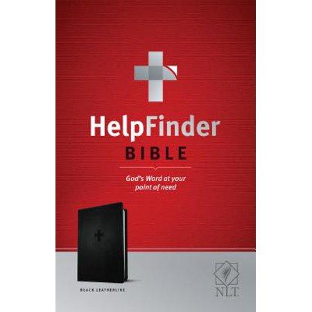 HelpFinder Bible NLT (Red Letter, LeatherLike, Black) : God's Word at Your Point of