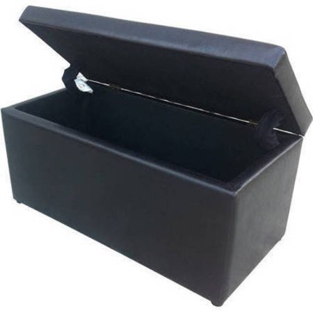 Better Homes And Gardens 30 Faux Leather Hinged Storage Ottoman Multiple Colors Best Ottomans