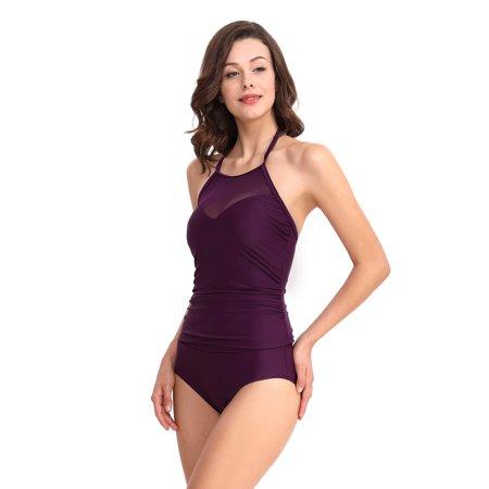 e9da2e2822d66 BEEACHGIRL - Women's Split Swimsuits Sexy Swimwear Vintage High Waist Tummy  Control Bathing Suits Mid Waist Pool Party Swimsuits S-XL - Walmart.com