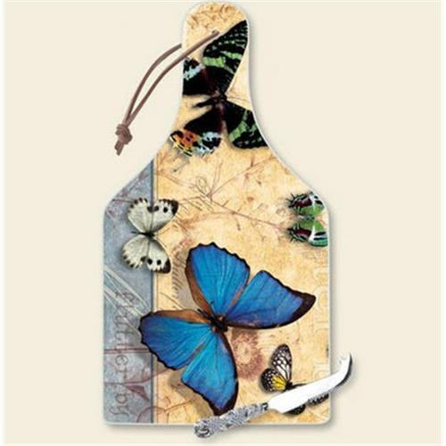 Highland Graphics HG34258 Flutter By Cheese Cutting Board with Knife