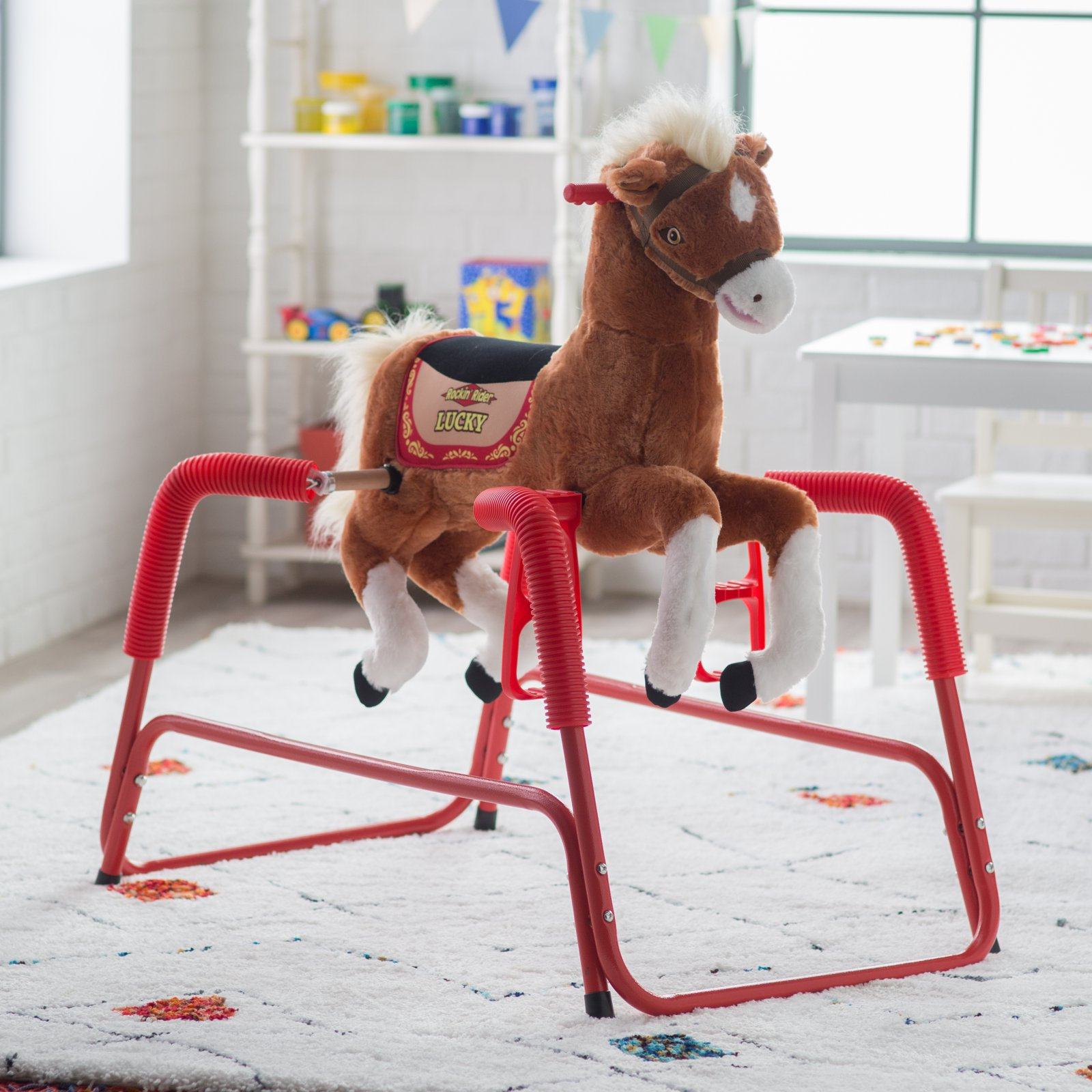 Rockin' Rider Lucky the Deluxe Talking Plush Animated Spring Horse