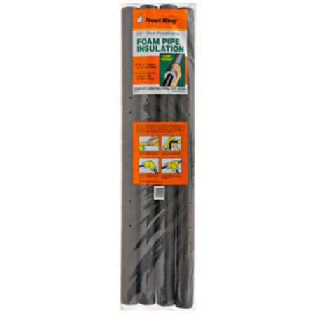 Thermwell Products P11 4-Pack 3-Ft. Foam Pre-slit Pipe Insulation for 3/4-Inch Copper Pipe ()