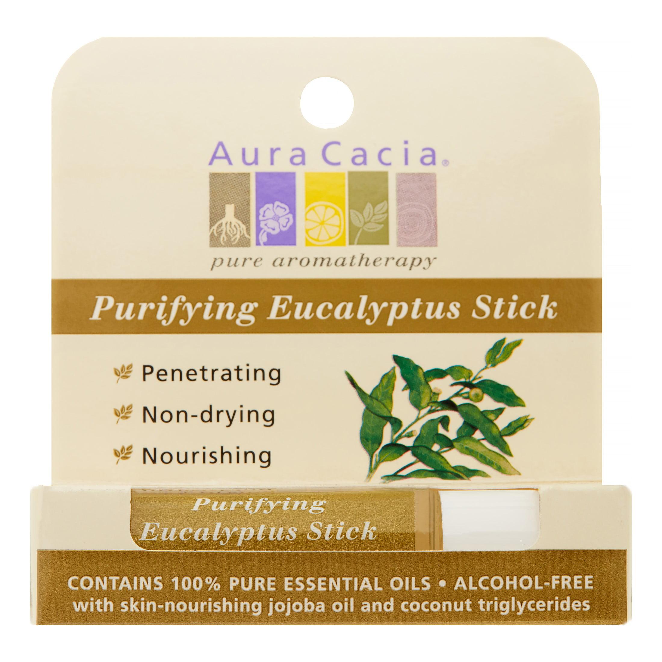 Aura Cacia Aromatherapy Roll-On, Clearing Eucalyptus, 0.31 Fl Oz