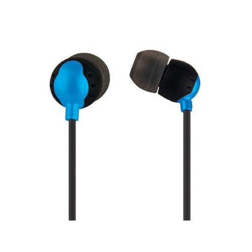Monoprice 110154 Enhanced Bass Earphones with Built-In Microphone and Play/Pause Controls for Cellphones - Retail Packaging - Blue
