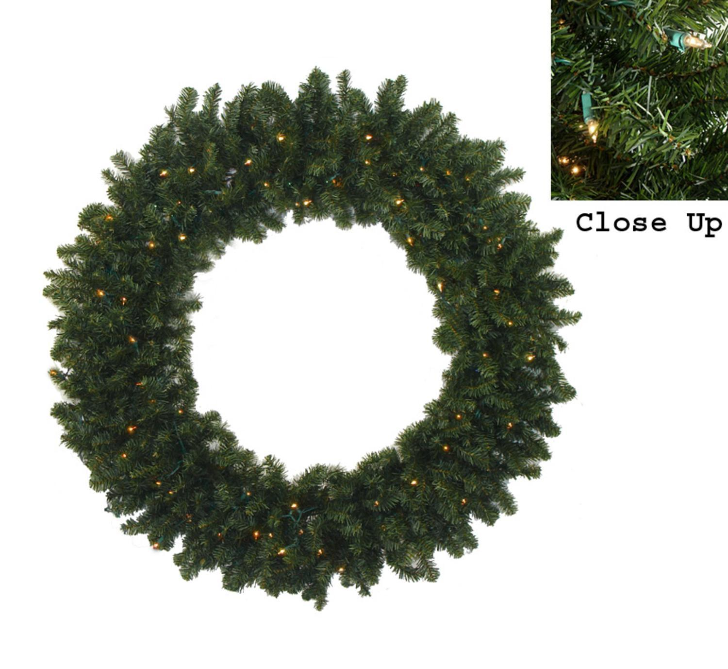 "Darice 72"" Prelit Commercial Canadian Pine Artificial Christmas Wreath - Multi Lights"
