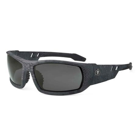 Ergodyne Skullerz® Odin Safety Glasses // Sunglasses, Kryptek Typhon, Smoke Lens
