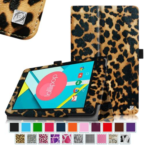 Fintie Nextbook 8 (NXW8QC16G) / Ares 8 (NXA8QC116) / Flexx 8 (NXW8QC132) Tablet Case Slim Fit Folio Cover, Leopard Brown