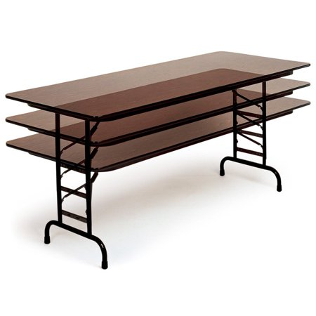 Correll Rectangle Melamine Adjustable Height Folding Table