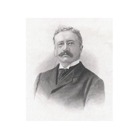 Bust-Length Portrait of Theodore Roosevelt Print Wall (Roosevelt Portrait)