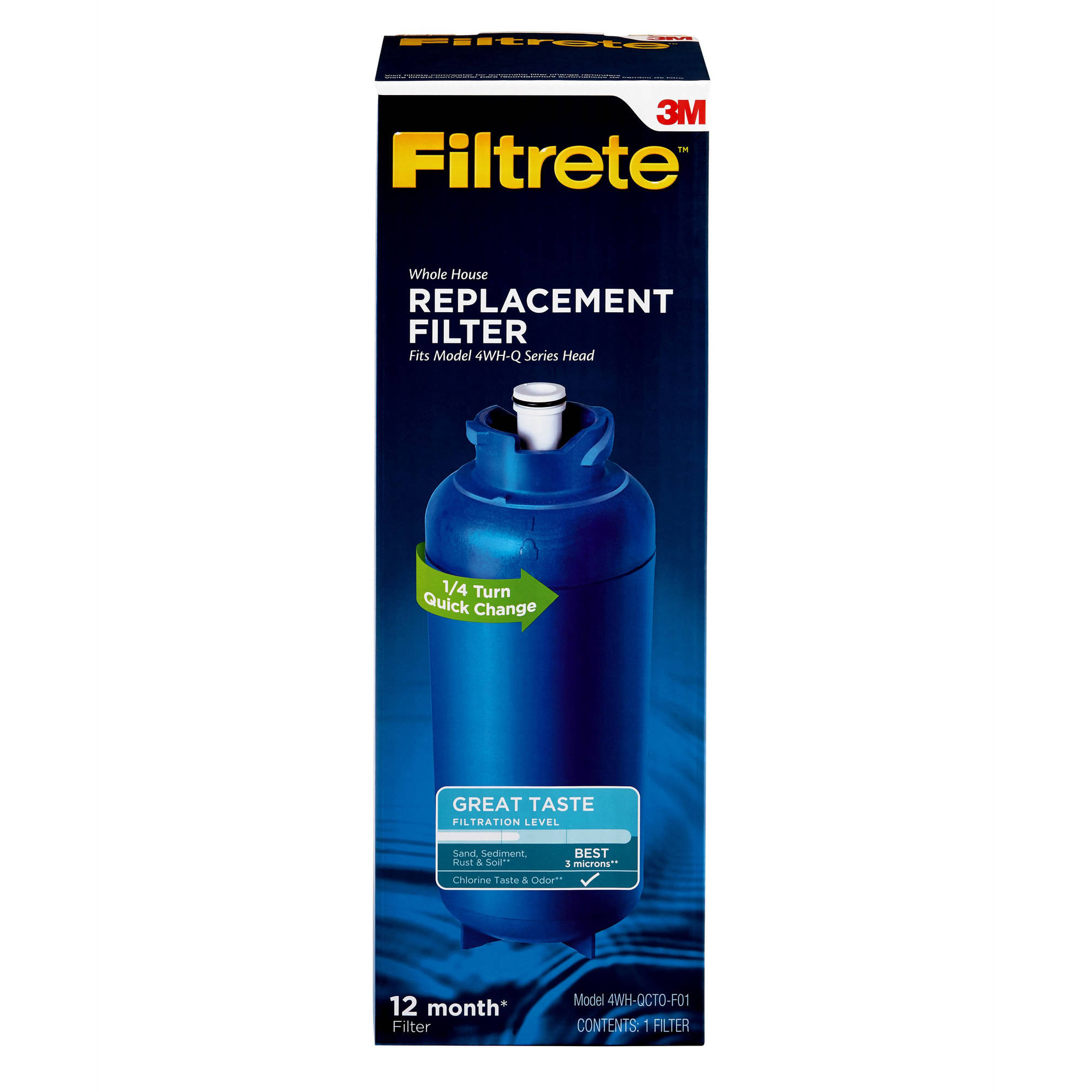 Filtrete Quick Change, Standard Filtration Replacement Filter (sediment, CTO)