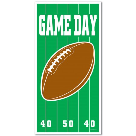 Club Pack of 12 Game Day Football Door Cover Party Decorations 5'