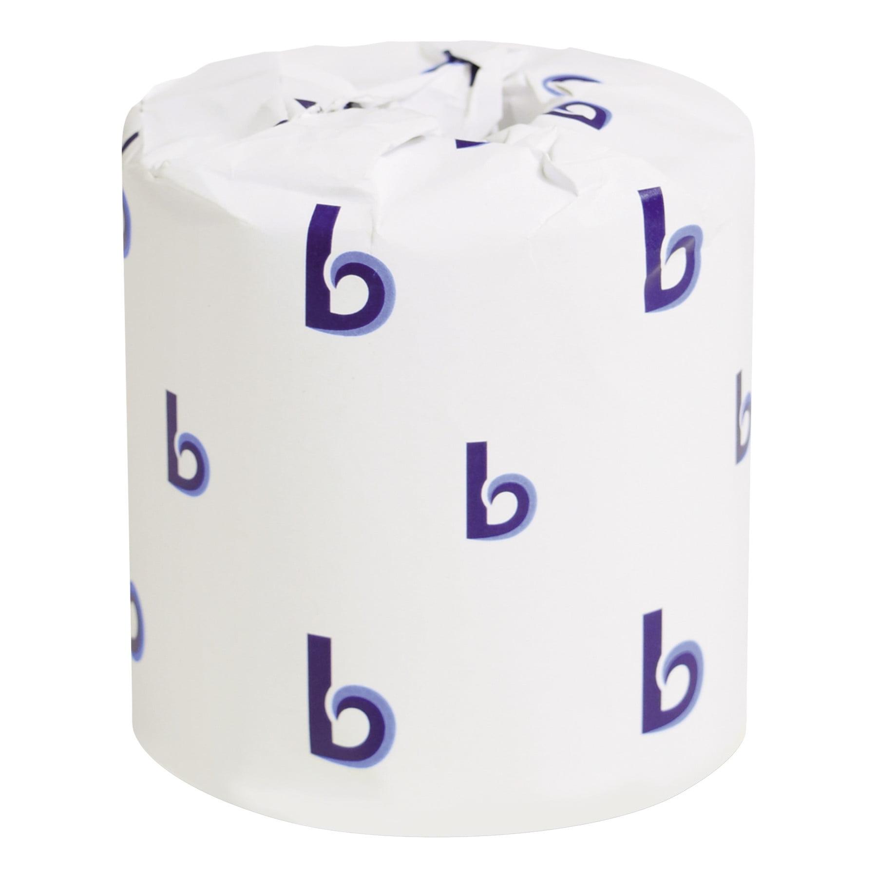 Boardwalk BWK6180 Two-Ply Toilet Tissue, White, 4 1/2 X 3 Sheet, 500 Sheets/roll, 96 Rolls/carton