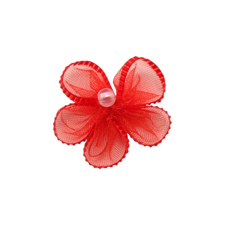 - Offray Satin Sheer Red Flower, 6 Count