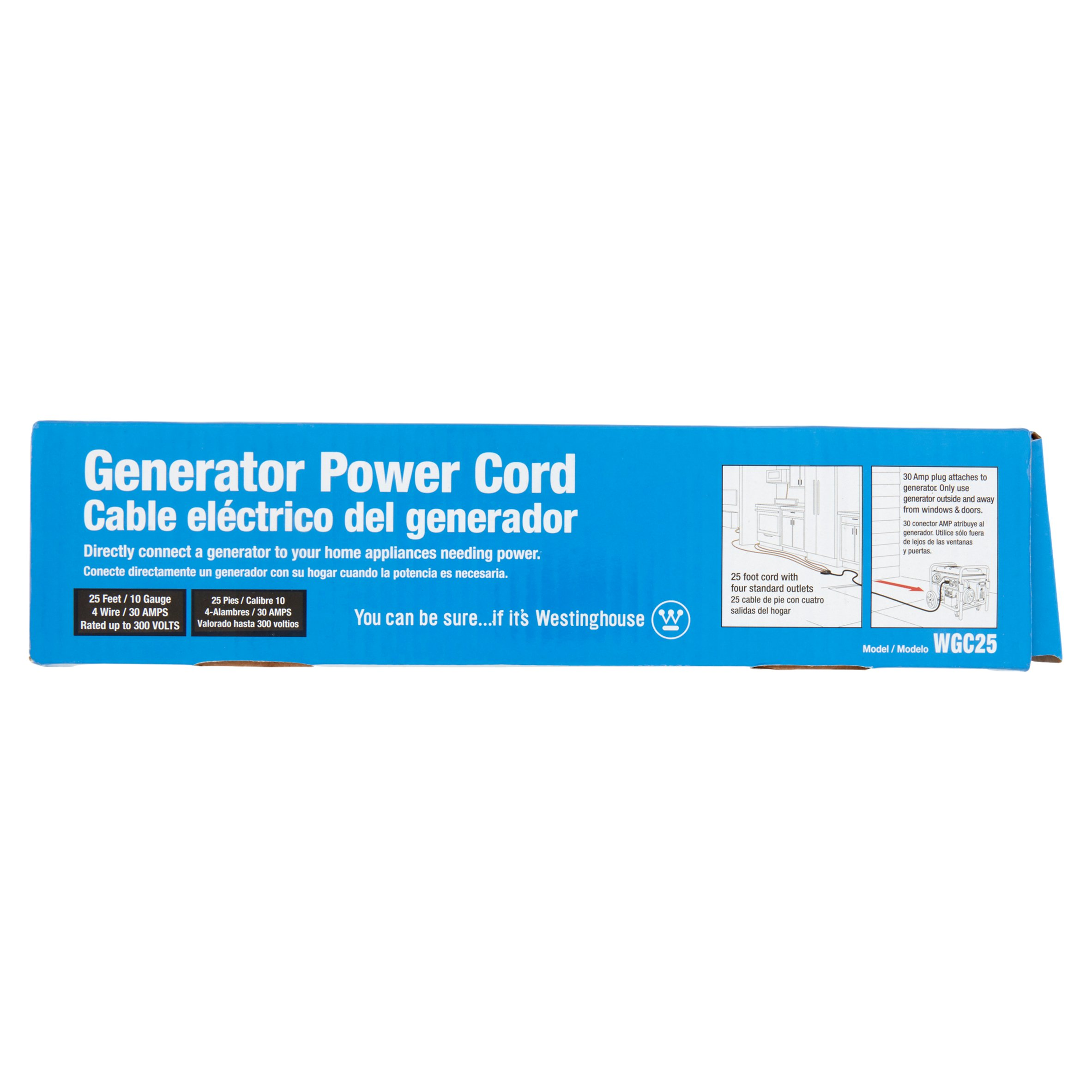 Westinghouse 25 Foot Generator Power Cord Walmart