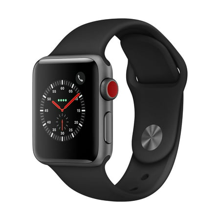 Apple Watch Series 3 GPS + Cellular - 38mm - Sport Band - Aluminum Case (Bushnell Neo Gps Watch)